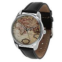 "Часы наручные ""Карта"" Черный"