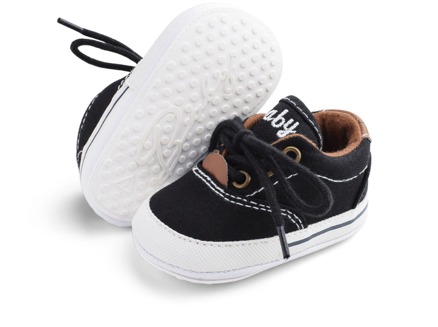 Пінетки-кеди хлопчачі Доні на шнурівці чорні