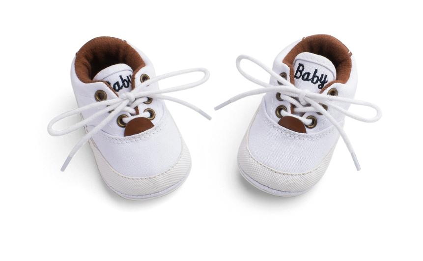 Пінетки-кеди хлопчачі Доні на шнурівці білі 10