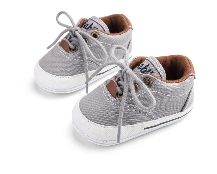 Пінетки-кеди хлопчачі Доні на шнурівці сірі 13
