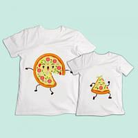 """Парні футболки Push IT з принтом """"Піца"""""""