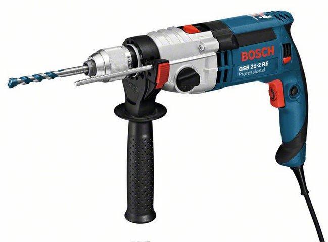 Дрель ударная Bosch GSB 21-2 RE (быстрозажимной патрон)