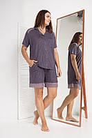 Батальний жіночий комплект з шортами для дому та відпочинку Nicoletta 39002, фото 1