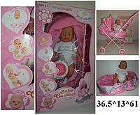 Кукла-пупс RT07-4 интерактивный с коляской