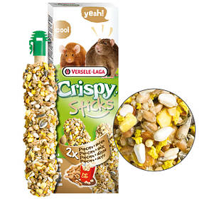 Лакомство с попкорном и орехами Versele-Laga Crispy Sticks Popcorn&Nuts для мелких грызунов 2 шт.