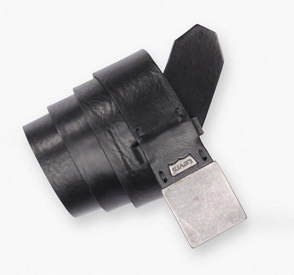 Ремень Levi's Flat Plaque Belt - Black