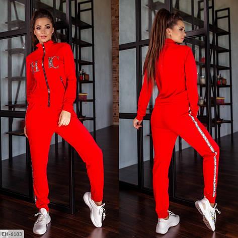 Спортивний костюм, червоний, №281, 42-46р., фото 2
