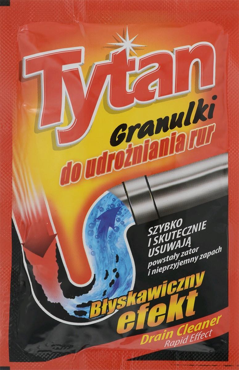 Гранулы для чистки канализационных труб Tytan в пакетиках 50 гр