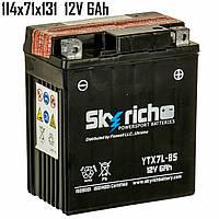Аккумулятор  6Ah 12V Skyrich YTX7L-BS SLA 114x71x131
