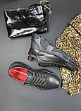 Женские кроссовки кожаные весна/осень черные Calo Pachini 4561/20-11, фото 9