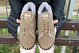 Женские ботинки замшевые зимние бежевые Nev-Men P беж, фото 7