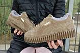 Женские ботинки замшевые зимние бежевые Nev-Men P беж, фото 8