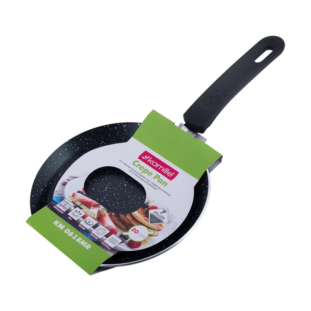 Сковорода блинная Kamille 20см с мраморным покрытием KM-0618MR