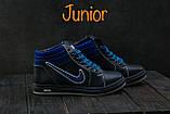 Подростковые кеды кожаные зимние синие CrosSAV 35, фото 4