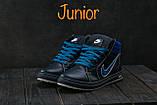 Подростковые кеды кожаные зимние синие CrosSAV 35, фото 5