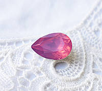 Стрази Крапля 10х14 мм, рожевий опал