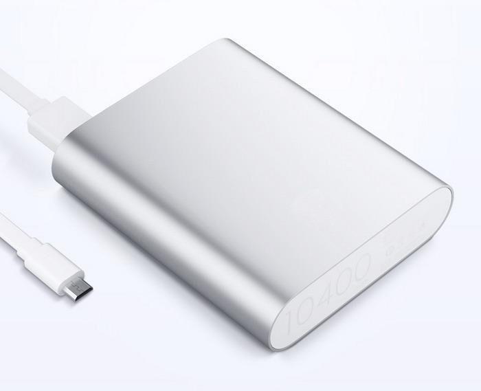 Power Bank 10400 mAh Повербанк Зарядное Внешний Аккумулятор Серебро