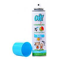 Спрей репеллент от комаров мошек клещей для детей от 2х лет Аэрозольное репеллентное средство Ой Комарики Baby