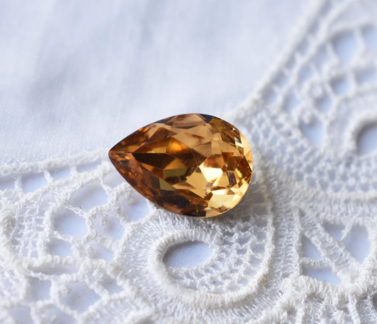 Стрази Крапля 10х14 мм, золотистий
