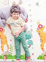 Дитячий розвиваючий двосторонній термо килимок №5, Алфавіт, розмір 180х150х1см, фото 3