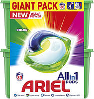 Капсулы для стирки цветного Ariel Color Pods 3 в 1 80 шт