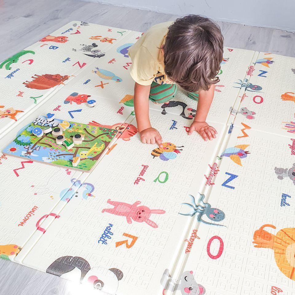 Дитячий розвиваючий двосторонній термо килимок №5, Алфавіт, розмір 180х150х1см
