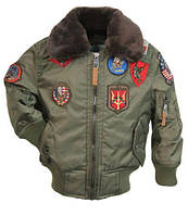 Дитяча куртка-бомбер Top Gun Kids B-15 Bomber Jacket TGKB15 (Olive)