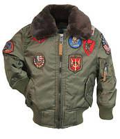 Дитяча куртка-бомбер Top Gun Kids B-15 Bomber Jacket TGKB15 (Olive), фото 1