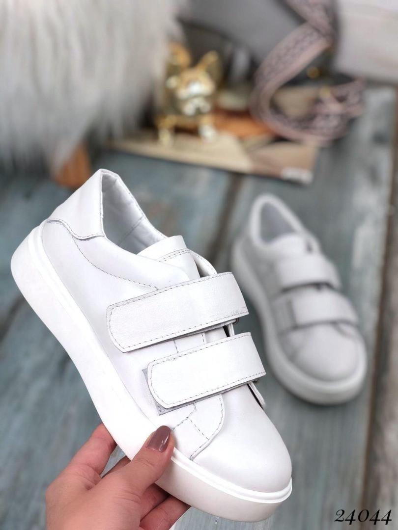 Кроссовки в стиле DOLCHE пяточка белая натуральная кожа