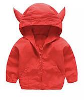 Детская Куртка Ветровка Красная Акула 104-110 см
