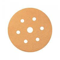 Круг шлифовальный Smirdex P80 для сухой шлифовки, диаметр 150мм, 7 отверстий