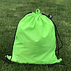 Рюкзак-мішок для змінного взуття, рюкзак-мішок для спортивної форми, органайзер для взуття, салатовий, 43х36см, фото 2