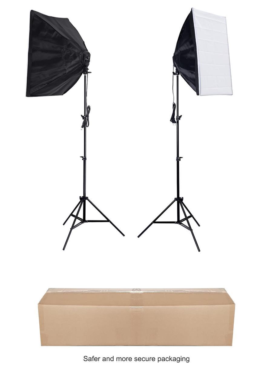 Набор студийного света  (софтбоксы (50x70) 2 шт +2 шт стойки)