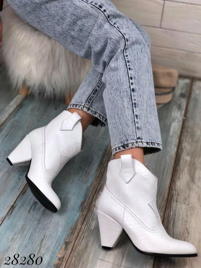 Демисезонные ботинки казаки питон натуральная кожа в наличии и под заказ