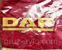 Шторки в кабину DAF ДАФ лобовое стекло-1 и боковые-2. цвет бордовый