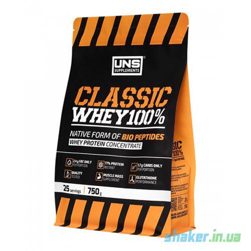 Сывороточный протеин концентрат UNS Classic Whey 100% (750 г) юнс классик вей  cream