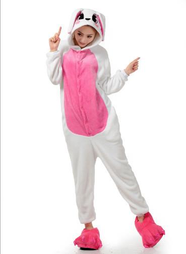 Кигуруми Біло - рожевий Заєць Для дорослих і дітей