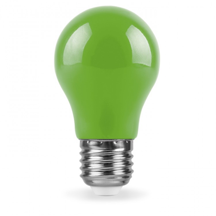 Светодиодная лампа Feron LB-375 3W E27 зеленая