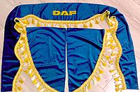 Шторки в кабину DAF ДАФ лобовое стекло-1 и боковые-2. цвет синий, фото 1