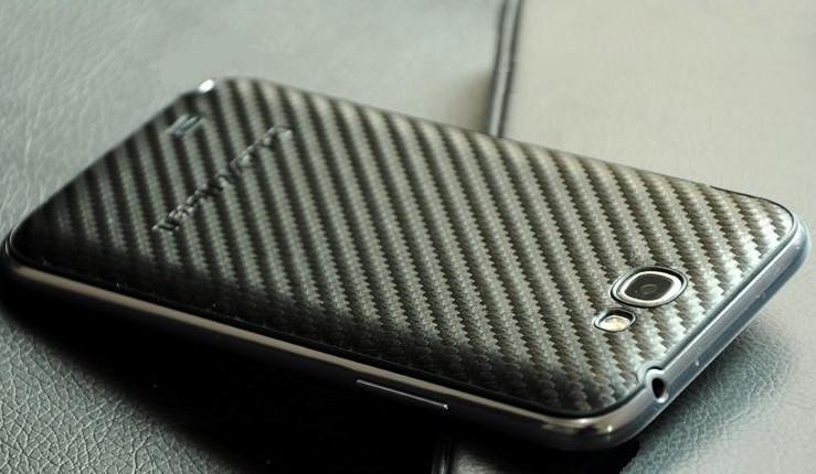Сменная панель для Samsung Galaxy Note 2 Карбон, фото 1