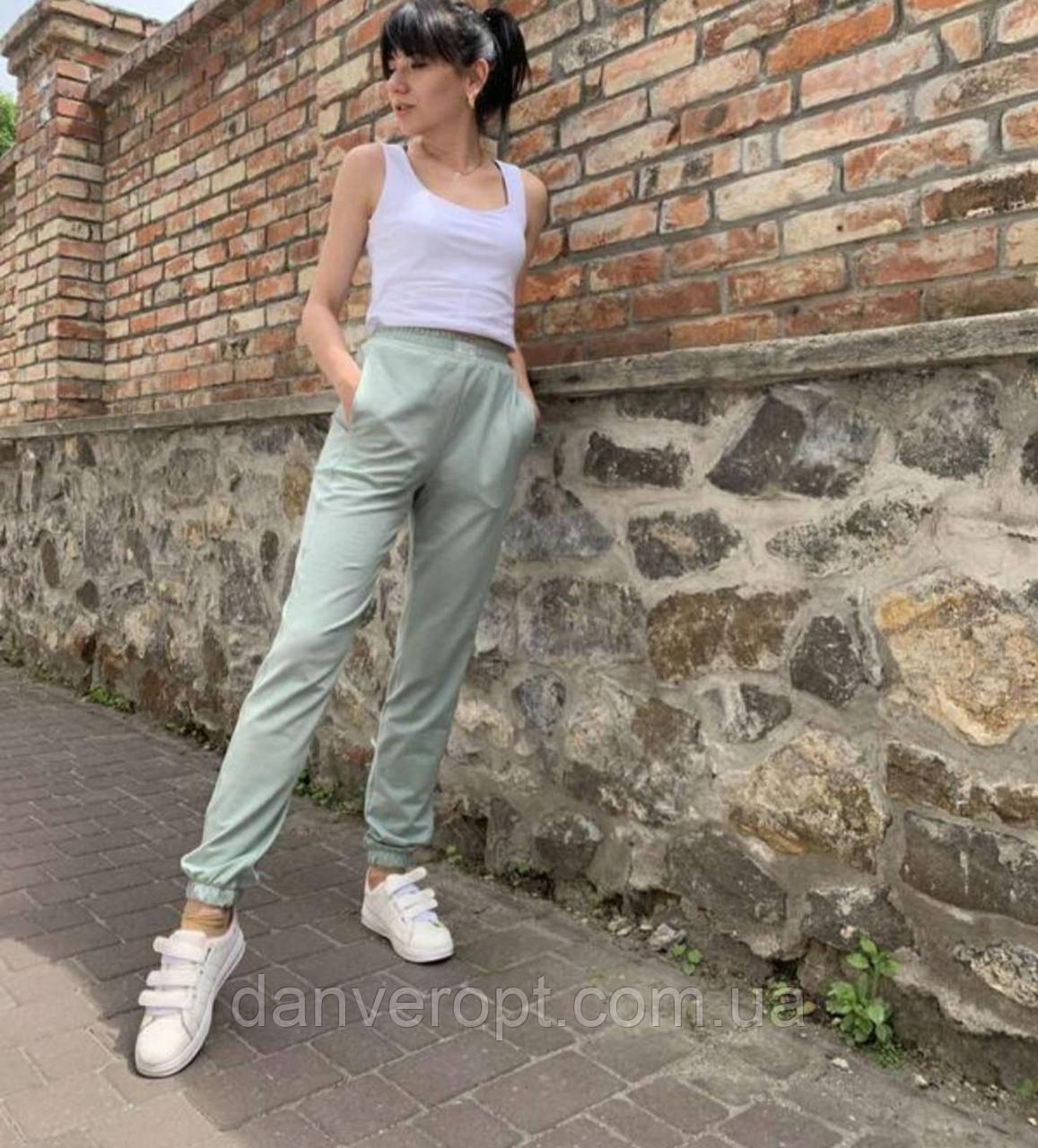 Спортивные штаны джоггеры женские модные размер 42-48 купить оптом со склада 7км Одесса