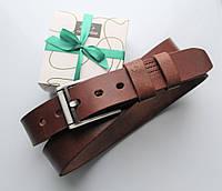 """Мужской кожаный ремень """"Morse"""" коричневый, фото 1"""