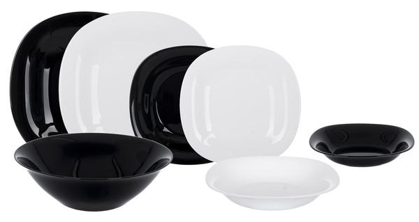 Сервиз столовый LUMINARC CARINE BLACK&WHITE, 19 предметов