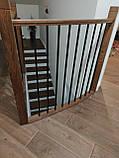Огородження  сходин , перила металеві та дерев'яні, фото 5