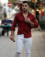 Мужская рубашка Турция цвета бордо