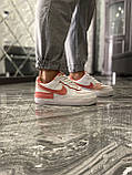 Женские кроссовки Nike Air Force 1 Shadow White Orange, женские кроссовки найк аир форс 1 шадоу, фото 5