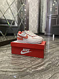 Женские кроссовки Nike Air Force 1 Shadow White Orange, женские кроссовки найк аир форс 1 шадоу, фото 6