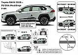Toyota RAV-4 2018+ молдинги на двери, фото 8