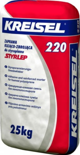 Клей для утеплювача Kreisel 220 (Крайзель) 25кг