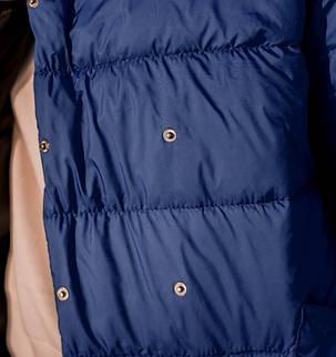 Модная женская удлиненная куртка с воротником под горло, больших размеров  XL,2XL,3XL,4XL.5XL, фото 2